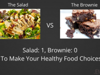 The Salad vs The Brownie: How Do You Make Healthy Food Choices?