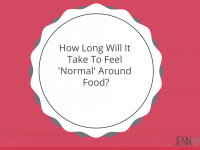 How Long Will It Take To Feel 'Normal' Around Food?